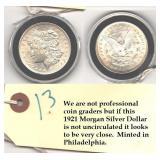 1921 Morgan US silver dollar AWESOME