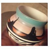 JAMES BENALLY native american Navajo vase