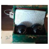 Pair of Chinese Health Musical Balls in orig box