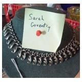 SARAH COVENTRY signed metal costume necklace