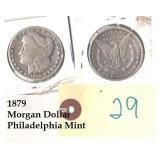 1879 US Morgan silver dollar Philadelphia
