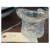 Daisy and Button pattern Glass top hat