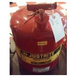 JUSTRITE red metal gas can