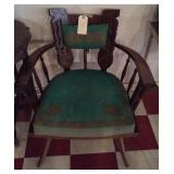 very unusual carved chair w original seat Germany?