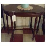 Antique solid wood walnut table nice grains