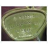3 pc Maddux California pottery green USA