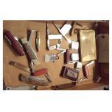 box lot pen & pocket knives openers more