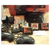 SEGA GENESIS game console w 6 games & box