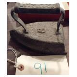 old BLACKROCK no. 8 cast iron smoothing iron