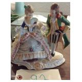 Old figurine victorian couple signed Germany 1