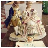 Old figurine victorian couple signed Germany 2