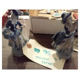 "OCCUPIED JAPAN 5"" blue white victorian figurines"