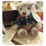 Vintage 1987 GUND jointed teddy bear w tags