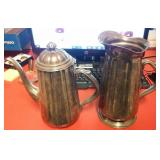 """2 pc 10"""" ONEIDA silverplate pitcher and teapot"""