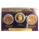 2008 John Quincy Adams US dollar set PROOF