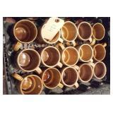 15 standard brown coffee cups JAPAN