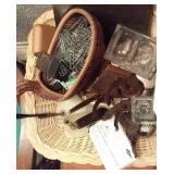 basket w vintage desk sets inkwells pen stands
