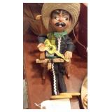 mexican troubador marionette puppet with guitar