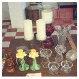 Nice lot of candleholders crystal, Italy, unusual
