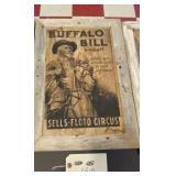 13x19 Western art in barnwood frame - BUFFALO BILL