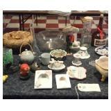 Porcelain Bavaria, Italy, Erphila, birds, bottles