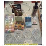 Pyrex, art supplies, dishes, kitchen, bath