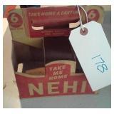 OLD RC NEHI 6 soda cardboard carrier advertising