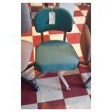 vintage steno chair heavy aluminum base