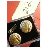 Beautiful costume gold earrings Diamond Dust