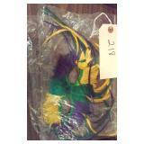 vintage colorful feathered mardi gras mask