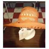 ladies burnt orange sun hat