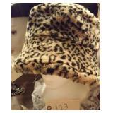 ladies leopard print hat
