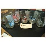5 vintage ACL drinking glasses w songs