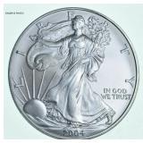 2004 American eagle silver dollar