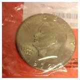 1972 Eisenhower clad silver dollar Uncirculated