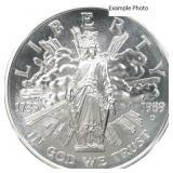 1989-D Bicentennial of Congress silver dollar