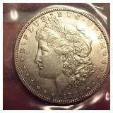 1882 Morgan US silver dollar - Philadelphia mint