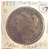 1888 O New Orleans Morgan US Silver Dollar