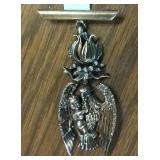 Nettie Rosenstein sterling silver angel brooch