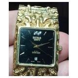 BENRUS Citation wristwatch gold nugget band