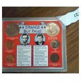 Kennedy Lincoln Strange But True set 6 coins