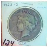 1923 S San Francisco US Peace silver dollar