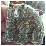 STERLING bear figural buckle Texas silversmith