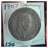 1907E Germany Saxony Friedrich August III 5 marks