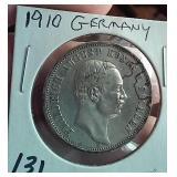1910 Germany Saxony Friedrich August III 3 marks