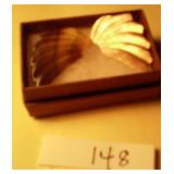 Mother of pearl / shell moth wing earrings pair