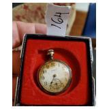 1914 ELGIN 7 jewel open face pocketwatch