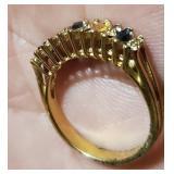 Vintage gold tone ring marked 18k HGE sz 6.5