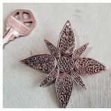 JOHN HARDY  celtic star silver dress clip / brooch