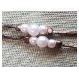 vintage elegant necklace w faux pearls Korea